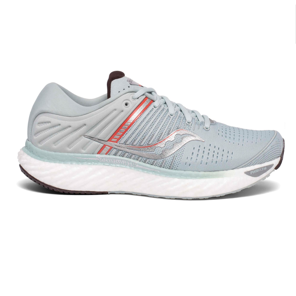 Saucony Women's Triumph 17 Road Running Shoes-Sky Grey/Coral