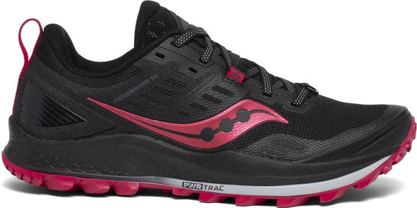 WOMEN'S SAUCONY PEREGRINE 10 - BLACK/BARBERRY