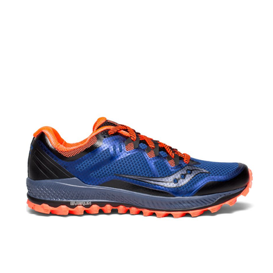 Men's Saucony Peregrine 8-blue/black/vizired