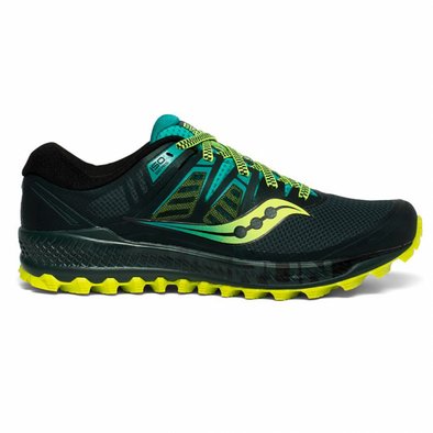 Men's Saucony Peregrine ISO-Green / Teal