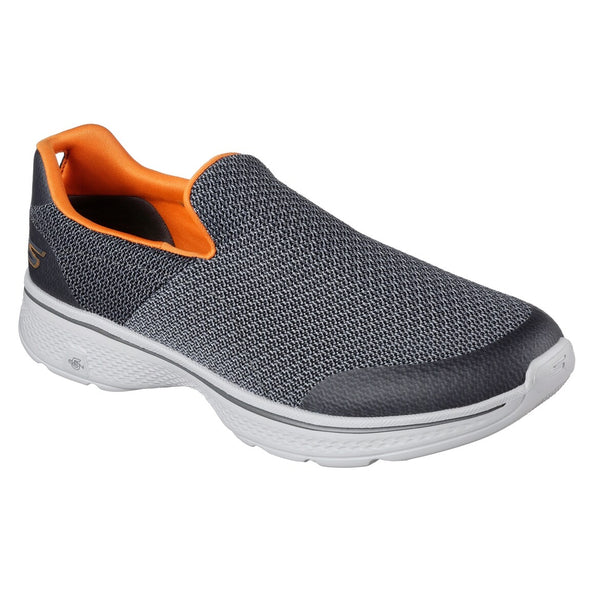 Skechers Men's Go Walk 4 Road Walking Shoes-Gray/Orange