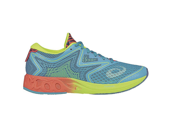 Women's Noosa FF Triathlon Running Shoes-Aquarium/Flash Coral/Safety Yellow