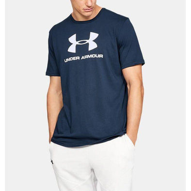 Under Armour Men's Sportstyle Logo Short Sleeve-Navy Blue