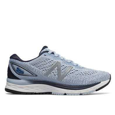 New Balance Women's 880v9 (D) Wide Fit Road Running Shoes-Blue/Silver