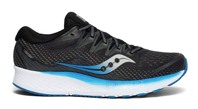 Men's Saucony Ride ISO 2-Black/blue