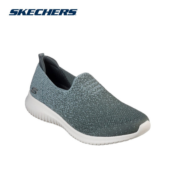 Skechers Women's Ultra Flex-Cozy Day Road Walking Shoes-Olive
