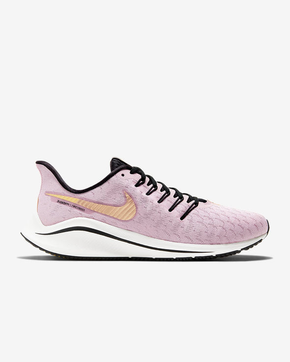 Nike Women's Zoom Vomero 14 Road Running Shoes-Plum Chalk/Infinite Gold/Silver Lilac/Metallic Gold