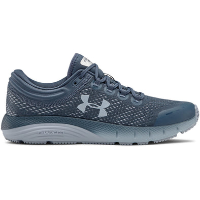 Under Armour Women's Charged Bandit 5 Road Running Shoes-Downpour Gray/Black/Blue Heights