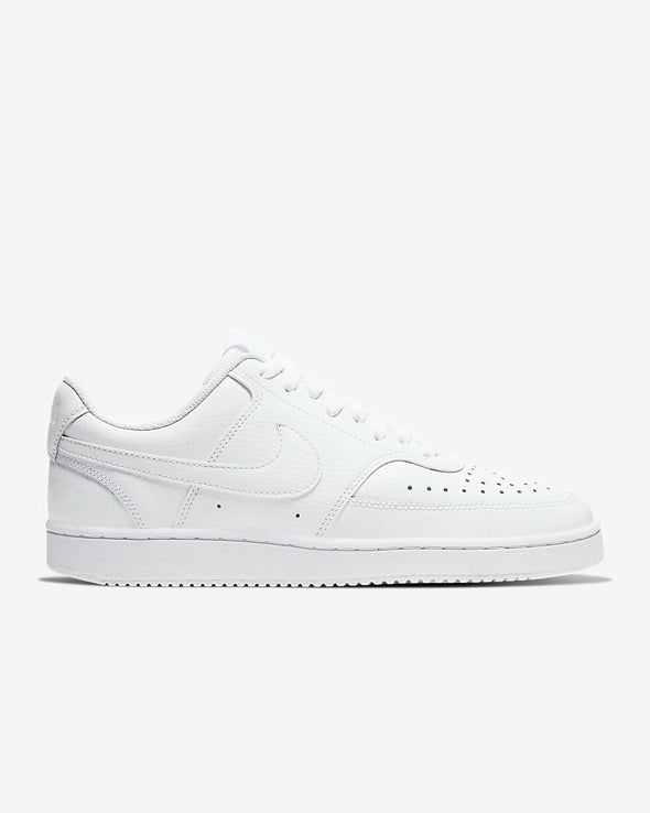 Nike Women's Court Vision Low Road Casual Shoes-White/White-White