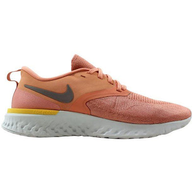 Nike Women's Odyssey React 2 Flyknit Road Running Shoes-Pink Quartz/Platinum Tint/Celestial Gold/Pumice