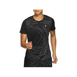 Asics Womens Night Track Ss Top - Black