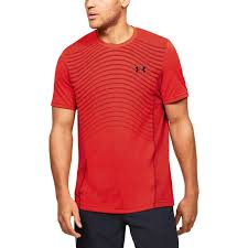 Under Armour Men's Seamless Wave SS- Orange
