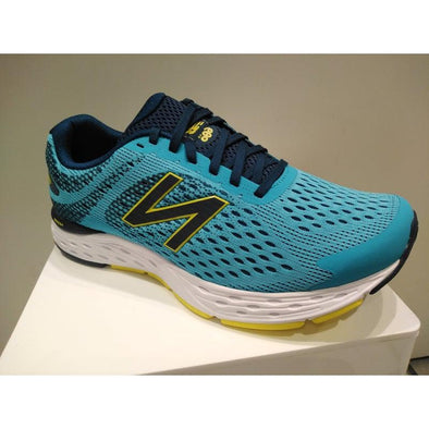New Balance Men's 680v6 (2E) Wide Fit Road Running Shoes-Blue