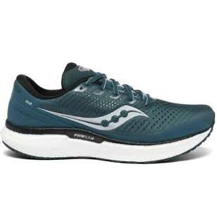 Saucony Men's Triumph 18 Road Running Shoes-DeepTeal/Silver