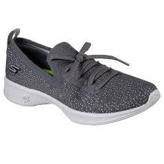 Skechers Women's Go Walk 4 Road Athleisure Shoes-Charcoal