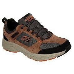 Skechers Men's Oak Canyon-Relaxed Fit Road Walking Shoes-BrownBlack