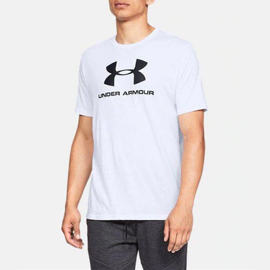 Under Armour Men's Sportstyle Logo Short Sleeve-White