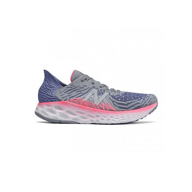 New Balance Women's 1080v10 (D) Wide Fit Road Running Shoes-Steel/Magnetic Blue