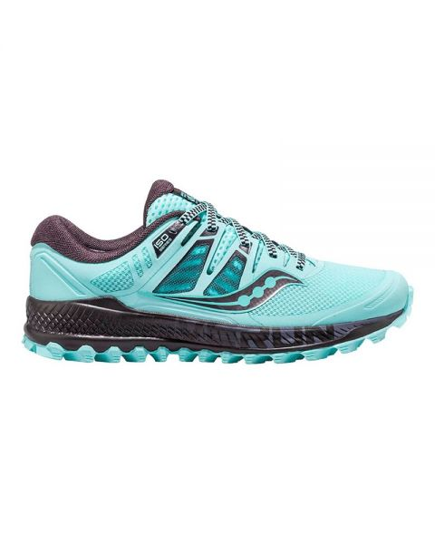 Saucony Women's Peregrine ISO Trail Running Shoes-Blue/Black