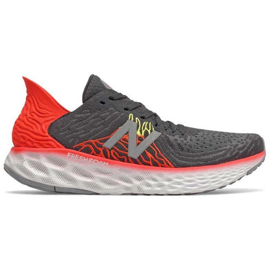 New Balance Men's 1080v10 (2E) Wide Fit Road Running Shoes-Phantom/Neo Flame/Lemon Slush