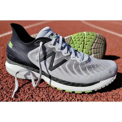 New Balance 860 V11 (2E) Wide Fit Road Running Shoes-Grey/Black/Green