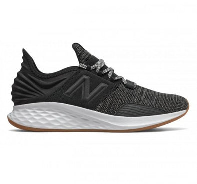 New Balance Men's Fresh Foam Roav Road Running Shoes-Black/Summer Fog
