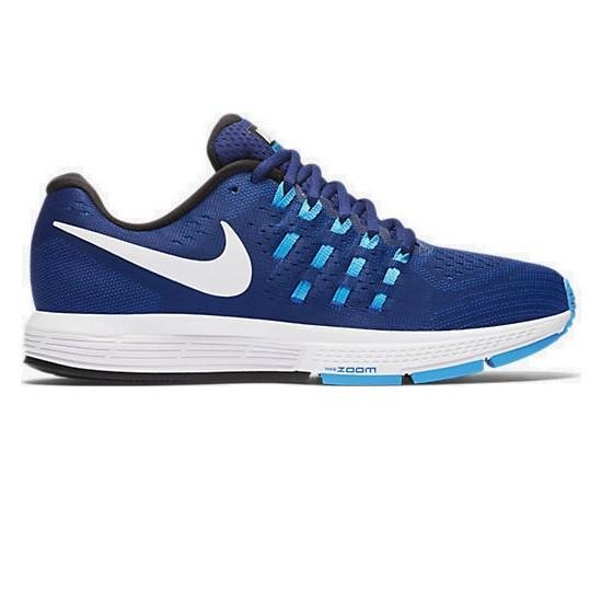 Nike Women's Zoom Vomero 11 Road Running Shoes-Blue/White/Glow Black