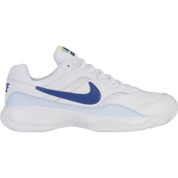 Nike Men's Court Lite Court Shoes-White/Indigo Force/Half Blue/Volt Glow