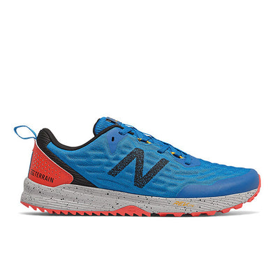 New Balance Men's Nitrel v3 (2E) Wide Fit Trail Running Shoes-Neo Classic Blue/Vision Blue/Toro Red