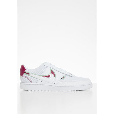 Women's Nike Court Vision LO Premium - white/noble red-iced lilac