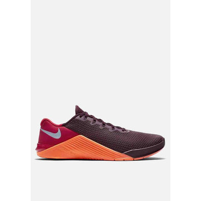 Nike Men's Metcon 5 Road Training Shoes-Night Maroon/University Red/Total Orange/Light Armory Blue
