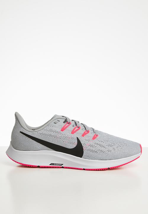 Nike Men's Zoom Pegasus 36 Road Running Shoes-Wolf Grey/White/Bright Crimson/Black