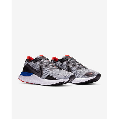 Nike Men's Renew Run Road Running Shoes-Grey Fog/Racer Blue/Chile Red/Black