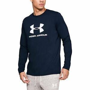 Under Armour Men's Sportstyle Logo Long Sleeve -Navy Blue