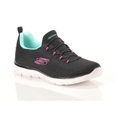 Skechers Women's Summits Fast Attraction Road Athleisure Shoes-BlackLightBlue