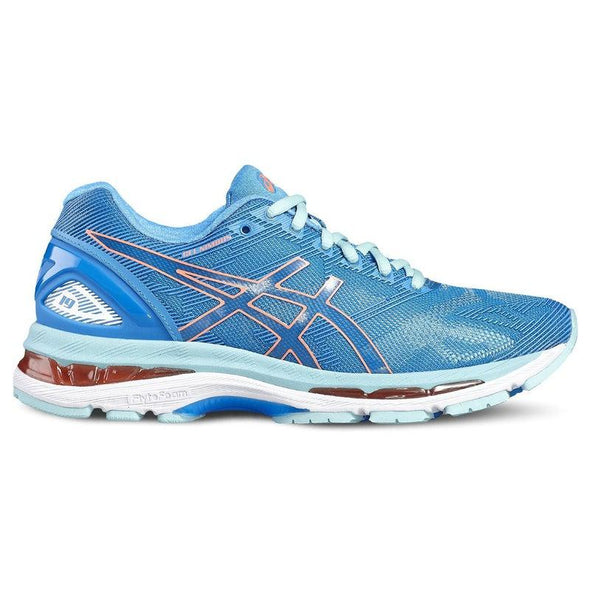 ASICS Women's Gel-Nimbus 19 Road Running Shoes-Diva Blue/Flash Coral/Aqua Splash