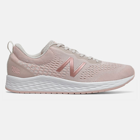 New Balance Women's Arishi v3 Road Running Shoes-Linen Fog/Peach Soda/White