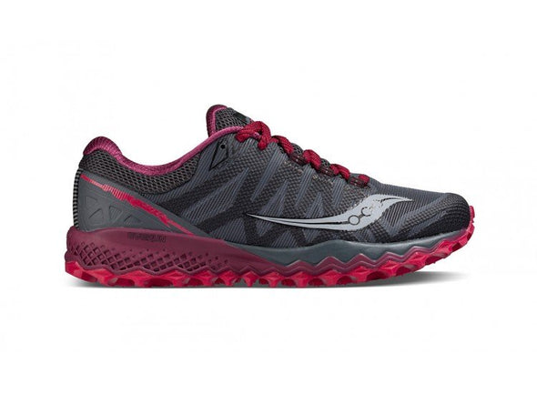 Saucony Women's Peregrine 7 Trail Running Shoes-Grey/Berry