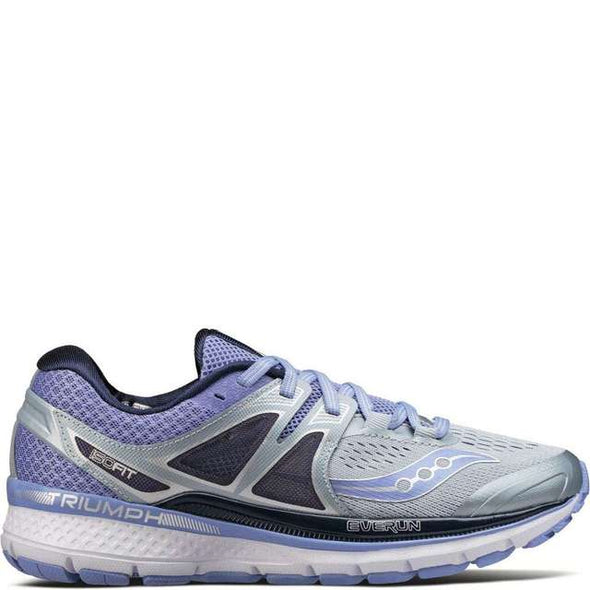 Saucony Women's Triumph ISO 3 Road Running Shoes-Grey/Violet