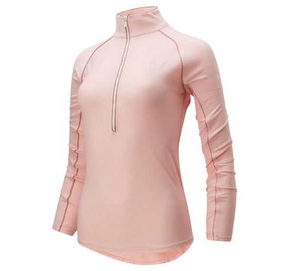 New Balance Women's Transform Half Zip - Light Pink