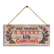 Load image into Gallery viewer, 1PC 2020 New Year Wooden Door Hanging Sign Christmas Tree Ornament Christmas Decoration for Home Wooden Pendant Navidad Gift