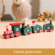 Load image into Gallery viewer, Wooden Christmas Train Ornament Christmas Decoration For Home Santa Claus Gift Toys Crafts Table Deco Navidad Xmas 2021 New Year