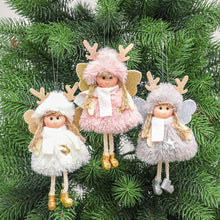 Load image into Gallery viewer, Christmas Plush Angel Girl Boy Dolls Xmas Tree Ornament Natal Noel Deco Christmas Decorations for Home New Year 2021 Kids Gift