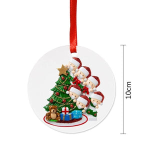 2020 Family DIY Handwritten Name Doll Snowman Christmas Tree Hanging Pendant Christmas Ornaments Christmas  Decorations For Home