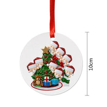 Load image into Gallery viewer, 2020 Family DIY Handwritten Name Doll Snowman Christmas Tree Hanging Pendant Christmas Ornaments Christmas  Decorations For Home