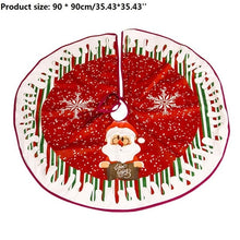 Load image into Gallery viewer, 1pc White Plush Christmas Tree Fur Carpet Merry Christmas Decorations for Home Natal Tree Skirts New Year Decoration navidad