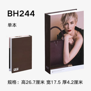 Fake Book Home Decoration Book Fashion Books for Table Decorative Model Coffee Shop Hotel Study Soft-fitting Props Book Model