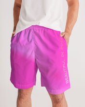 Load image into Gallery viewer, Beautiful In Pink Collection Dye Fade Men's Jogger Shorts - Beautiful In Pink Collection