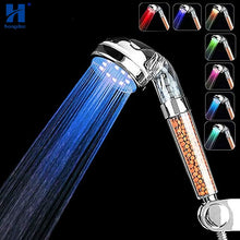 Load image into Gallery viewer, Sale Collection - Hand-held Multicolor LED Rainbow Shower Head - Beautiful In Pink Collection