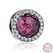 Load image into Gallery viewer, Sale Collection - 925 Sterling Silver Authentic Radiant Hearts Charm - Beautiful In Pink Collection